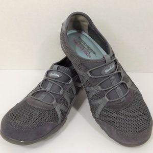 Skechers Gray Slip Ons W Memory Foam Footbed 8.5 M